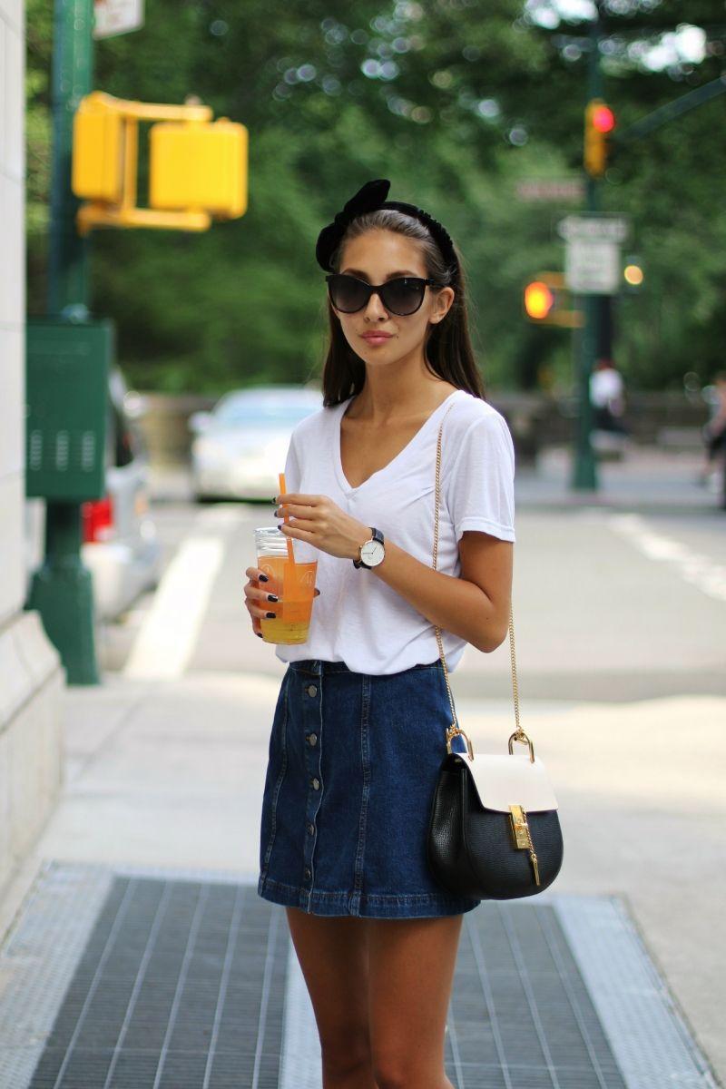 Image result for pinterest Button Front Denim Skirt