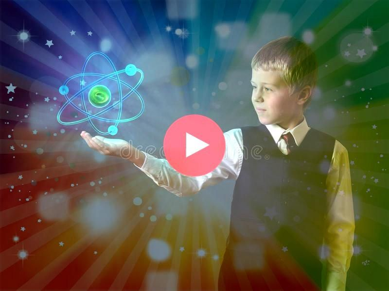 holding glowing atom Glowing atom of the child hand Schoolboy holding glowing atom Glowing atom of the child hand  Double Exposure Action  a great tool for a photographer...
