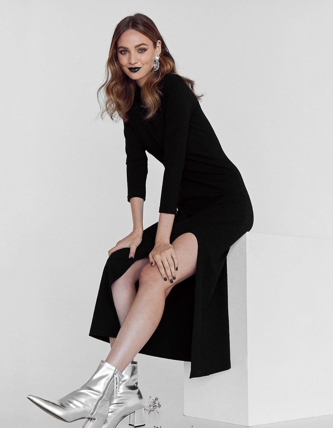Μακρύ φόρεμα με ψηλή λαιμόκοψη - Φορεματα  9ffa800d33a