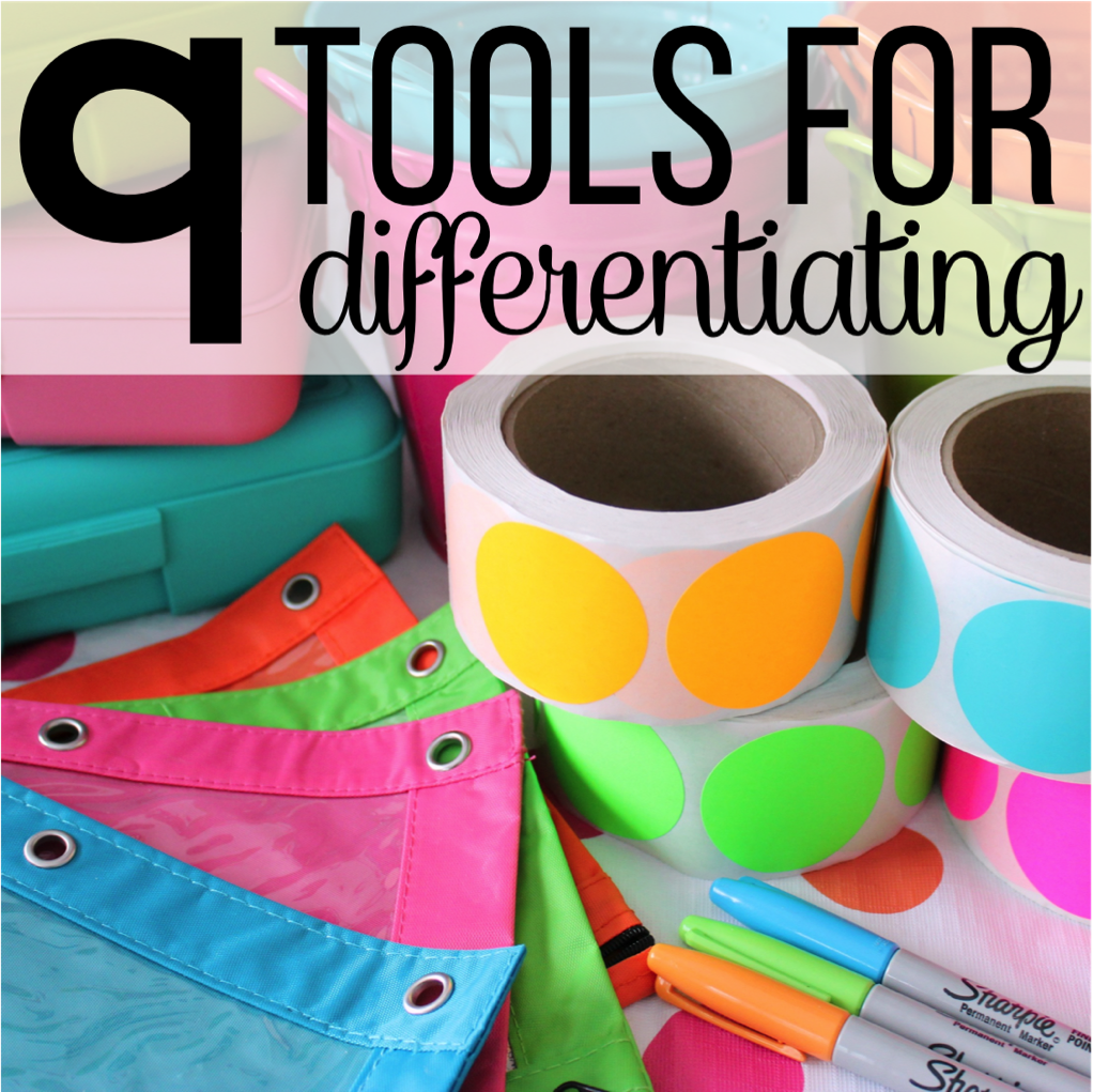 nine tools for differentiating teaching awesome and classroom i chose this pin because these are great organization skills for differentiating if i color coded assignments for differentiation based on readiness