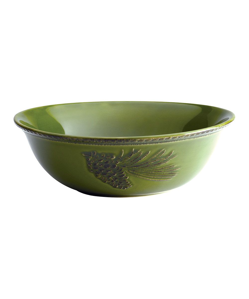 Look at this Paula Deen Green Southern Pine Serving Bowl on #zulily today!