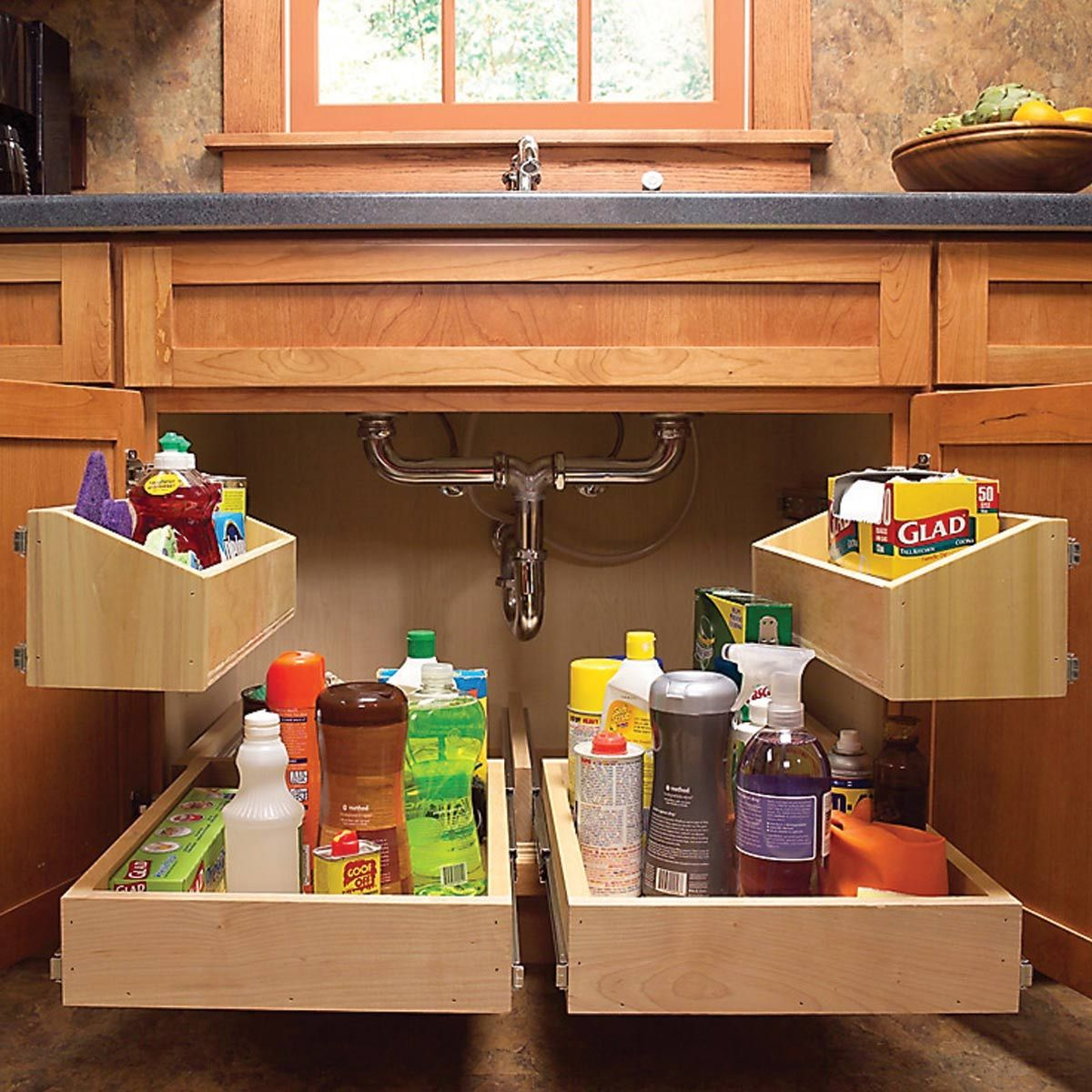 How To Build Kitchen Sink Storage Trays In 2019 Home Project Ideas