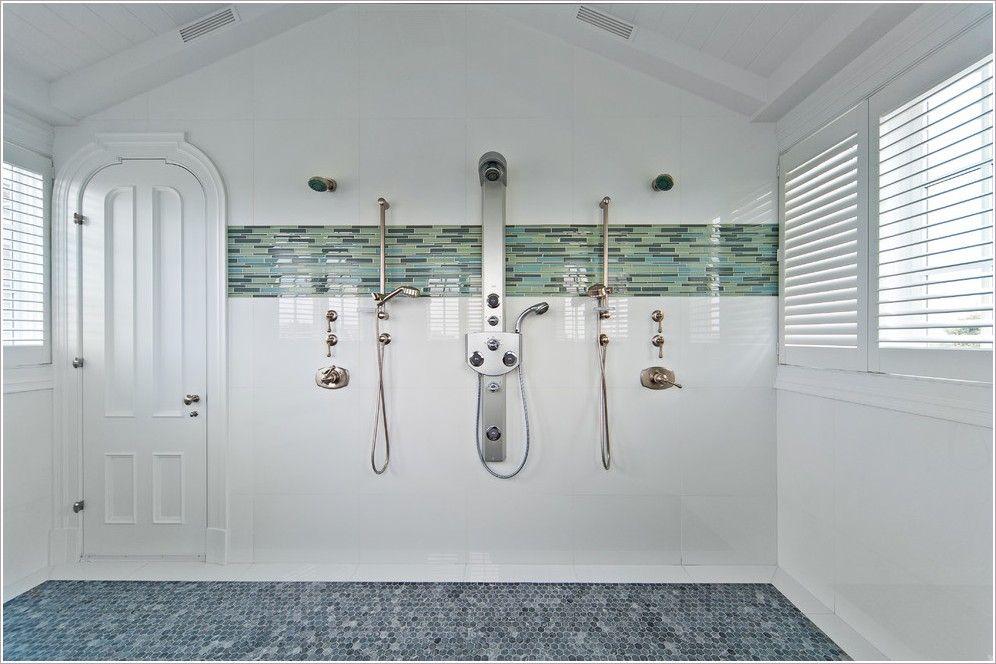 Bathroom-Beach-New-York-angled-ceilings-blue-tile-custom-built ...