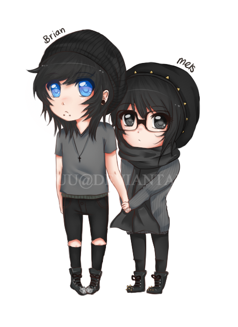 Premade sold by isachuu on deviantART Casais emo