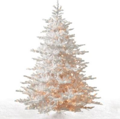 White Cascades Artificial Christmas Tree - modern - holiday ...
