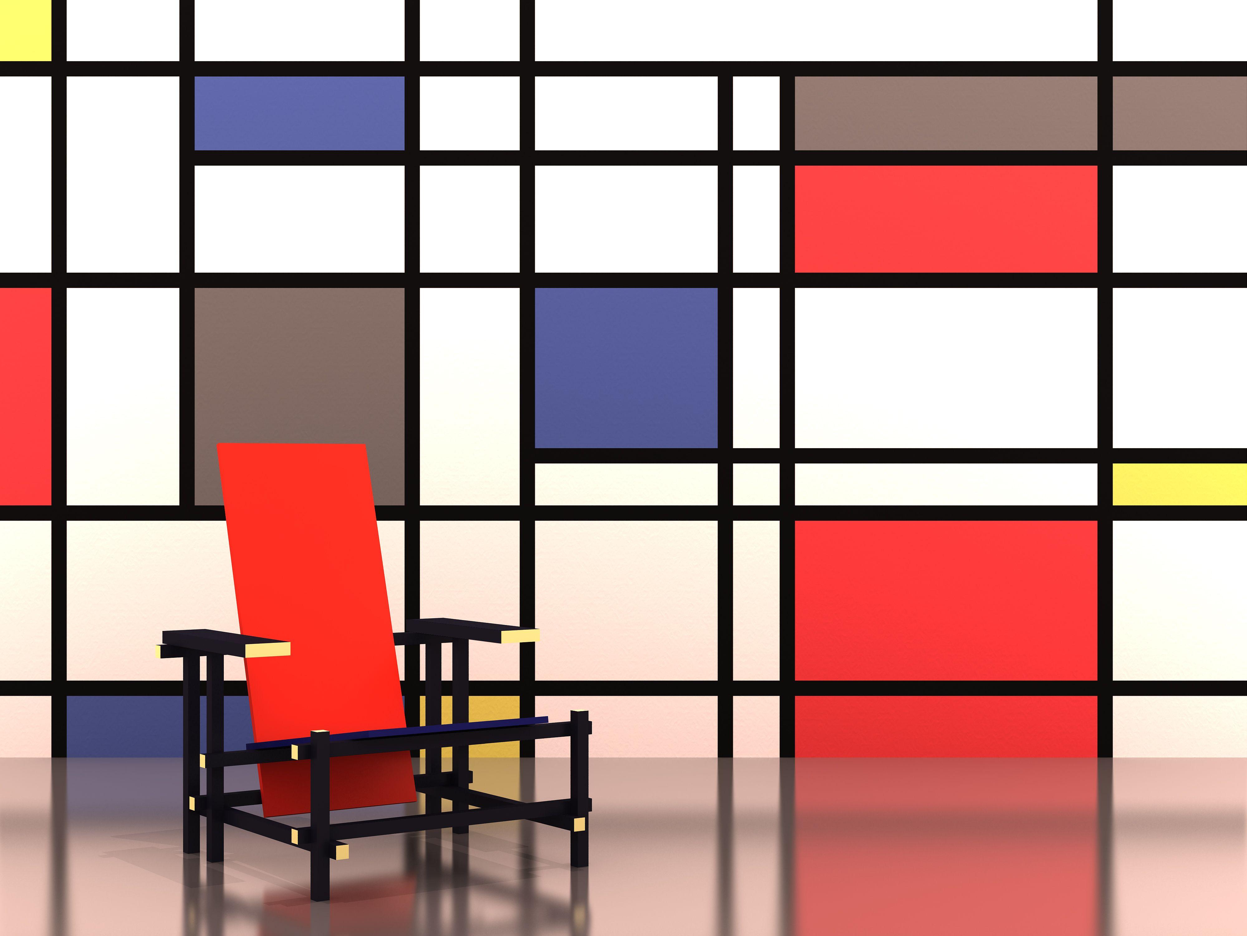 Awe Inspiring Redblue Chair Of Rietveldstoel Gerrit Rietveld In 2019 Uwap Interior Chair Design Uwaporg