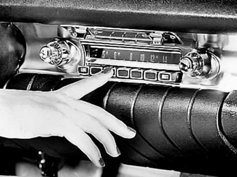 Push button car radio