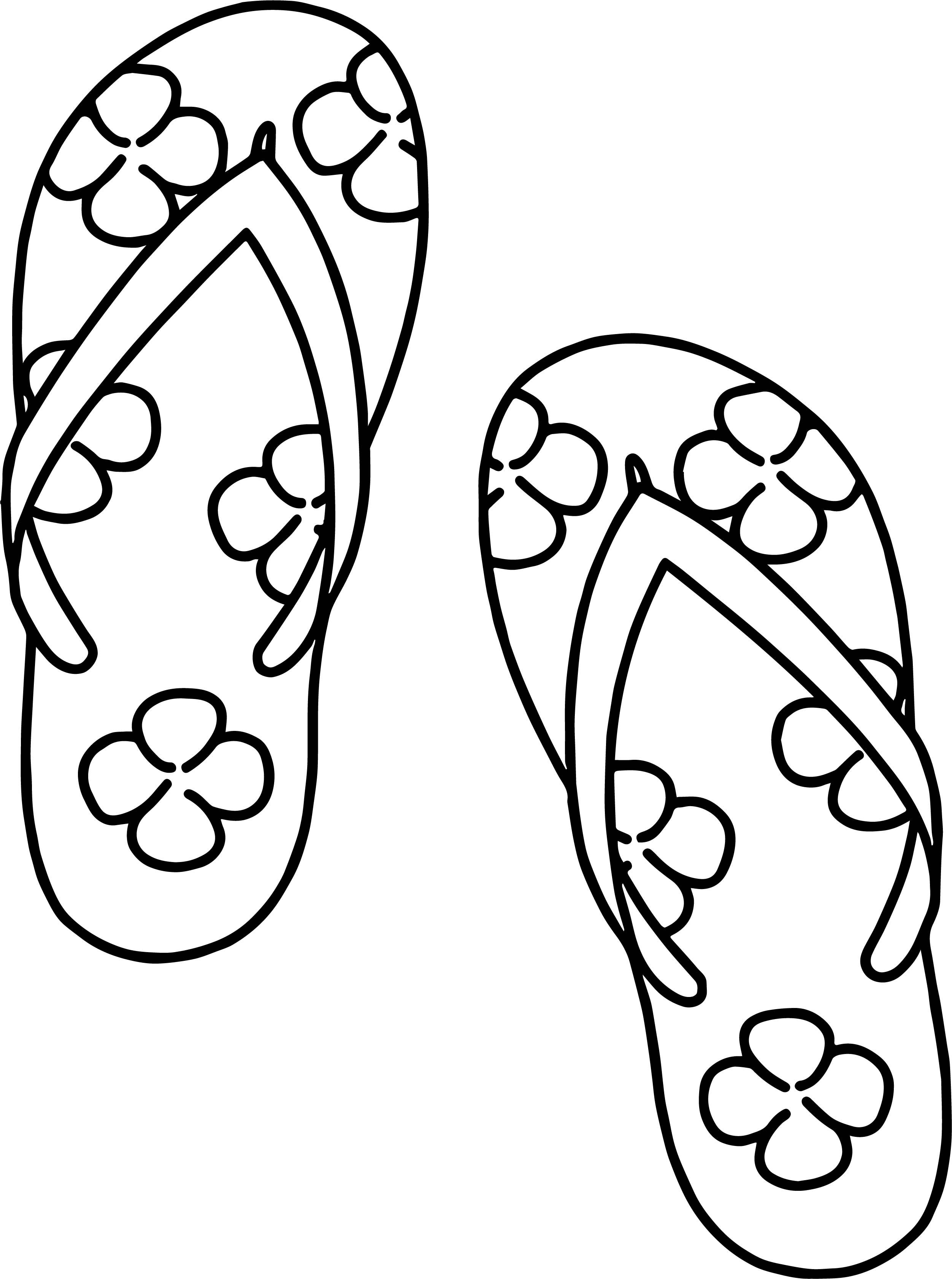 Nice Slipper Summer Clover Coloring Page With Images