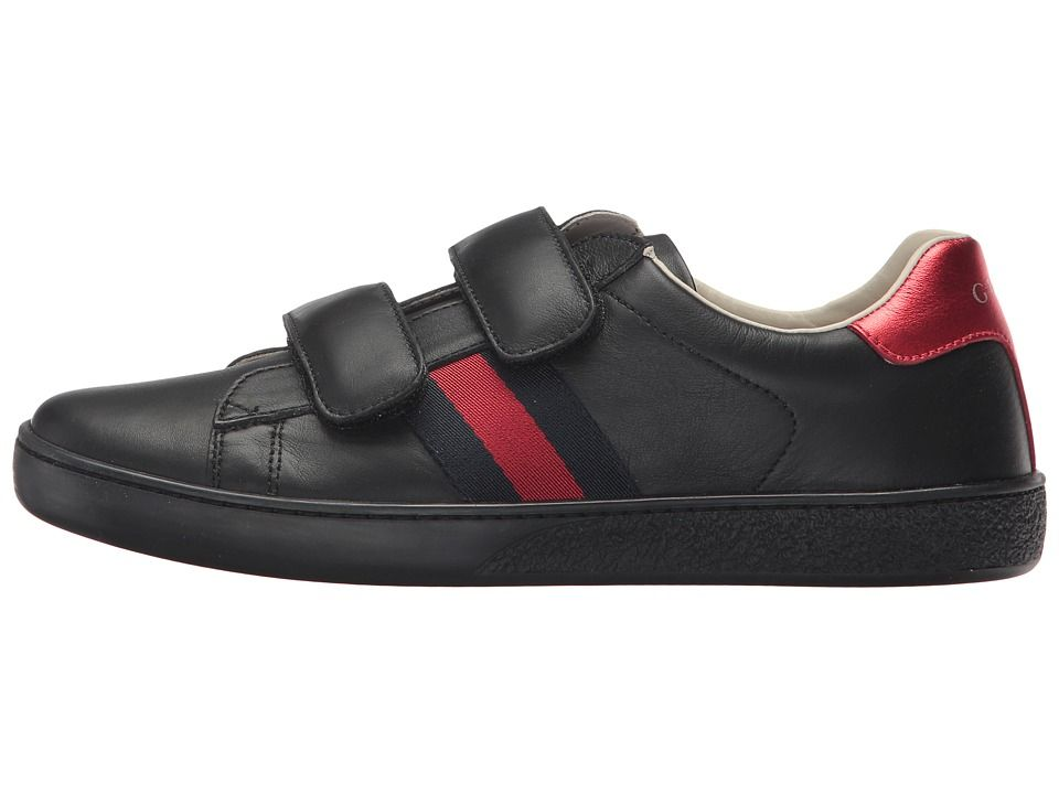 40c934f8fd9 Gucci Kids New Ace V.L. Sneakers (Little Kid Big Kid) Kids Shoes  Anthracite Blue