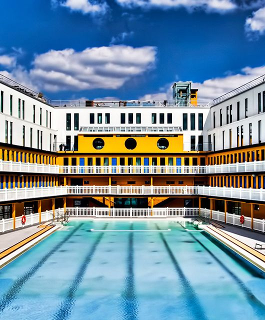 Piscine Molitor In Paris. Life Of Pi Scene Filmed Here.