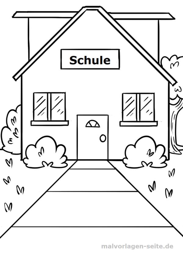 Malvorlage Schule | Kostenlose malvorlagen, Ausmalbilder und Schule