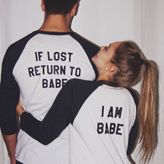 If Lost Return To Babe Baseball Tees Couples By Hubsandhers Couple Outfits Matching Couples Cute Couples