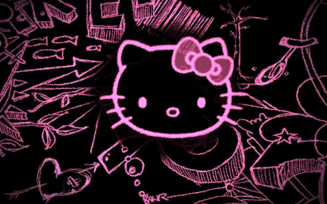 Hello Kitty Wallpaper Hello Kitty Emo Style Wallpaper Download Free Download Hello Kitty Hello Kitty Pictures Hello Kitty Backgrounds Hello Kitty Images