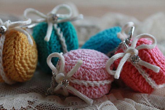 Collana di macaron - macaron collana - Collana Crochet macaron - parigino macaron dolce fascino