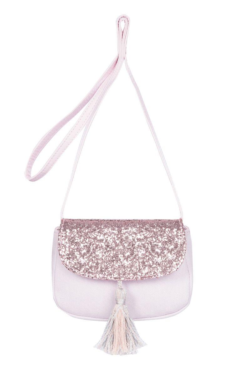 181a18cc006e Pink Glitter Tassel Bag Glitter Dress, Pink Glitter, Primark Bags, Kids Bags ,