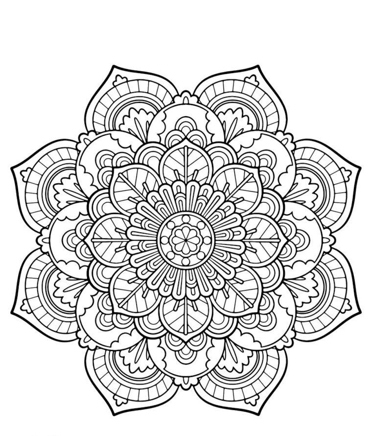 Disegni Geometrici Da Colorare Motivi Disegno Mandala Ornamenti Con Fiori Mandala Disegni Geometrici Simboli Magici