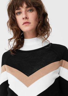Contrast trim sweatshirt