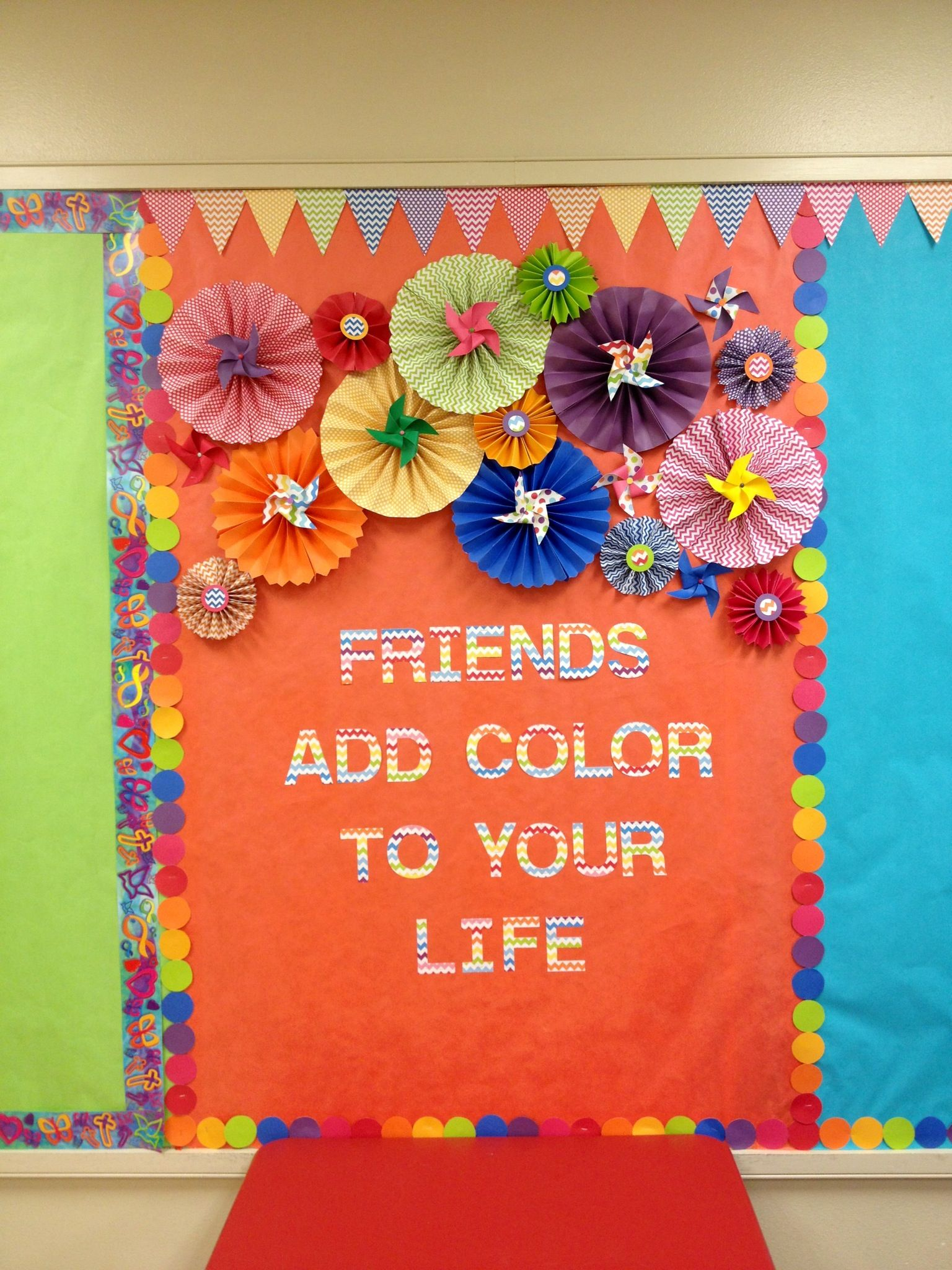 Classroom Decoration Colorful : Colorful bulletin board neon and black jesus adds color