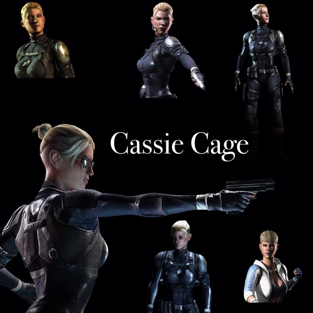 Mortal Kombat X Collage Cassie Cage Made By [Ninjagirl18