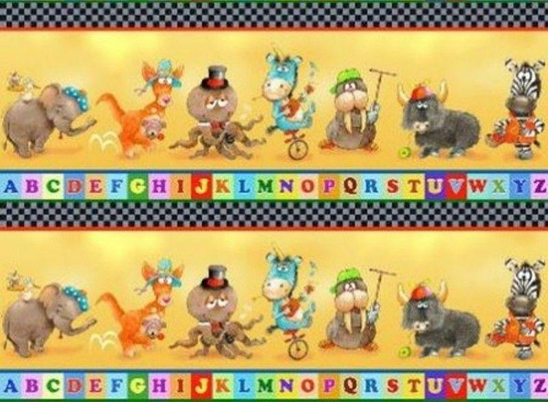 Dekostoff - Dekostoff Patchworkstoff Kinderstoff Alphabet ... - ein Designerstück von sticken-stricken-haekeln bei DaWanda