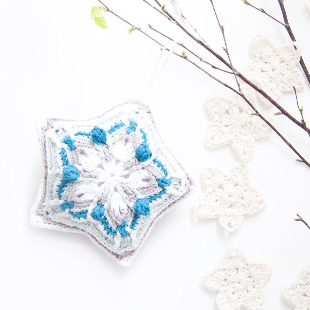 Crochet Christmas Star - Free Pattern | tejido | Pinterest ...