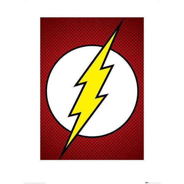 DC Comics The Flash Symbol Graphic Art | Wayfair UK