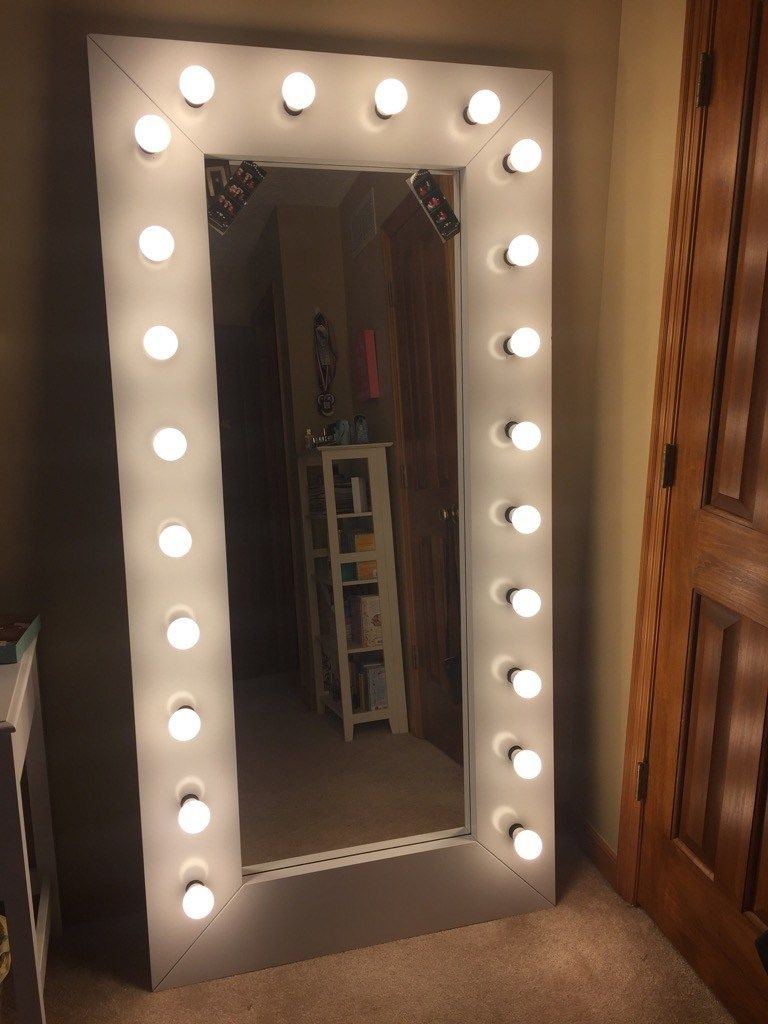 Full Length Vanity Selfie Mirror With Lights Ikea Mirror Lights