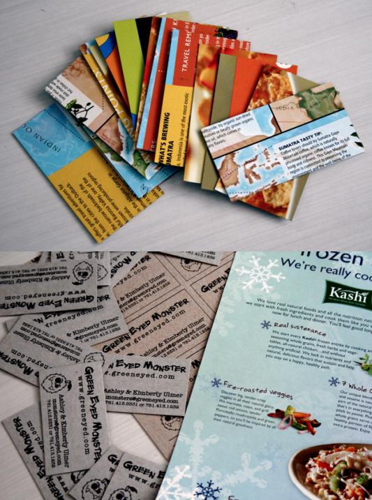 Cereal Box Business Cards Blog A La Cart Printing Business Cards Make Business Cards Business Card Tutorial