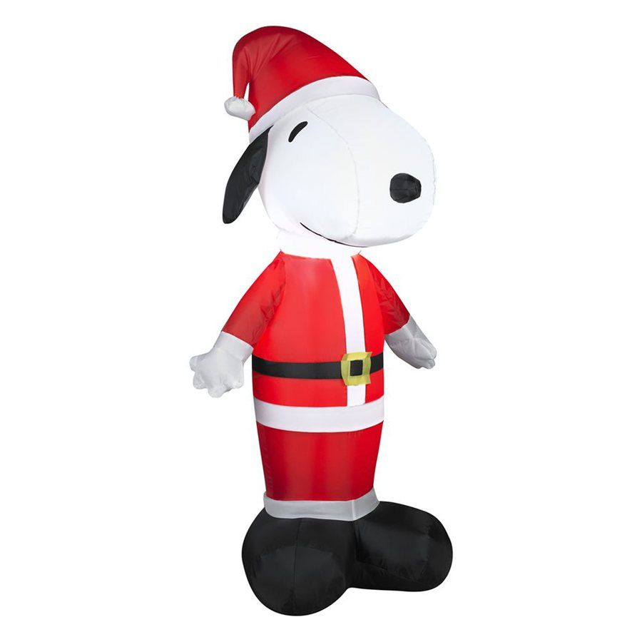 Shop Gemmy 3.51-ft Internal Light Snoopy Christmas Inflatable at ...