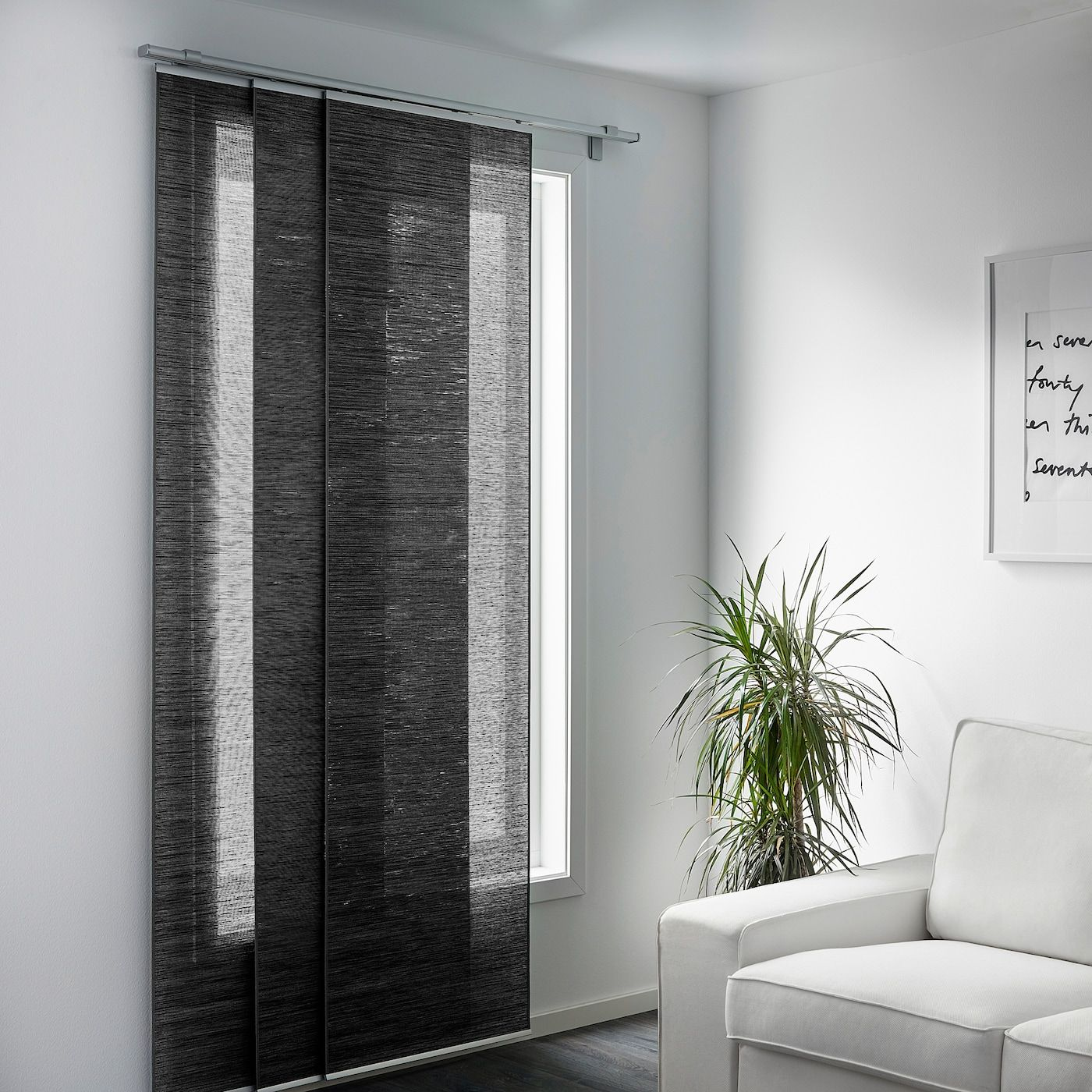 IKEA FONSTERVIVA Dark Gray Panel Curtain In 2020
