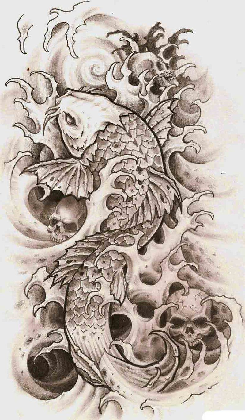 тату японский карп Tat Ideas татуировки карп тату и эскиз тату
