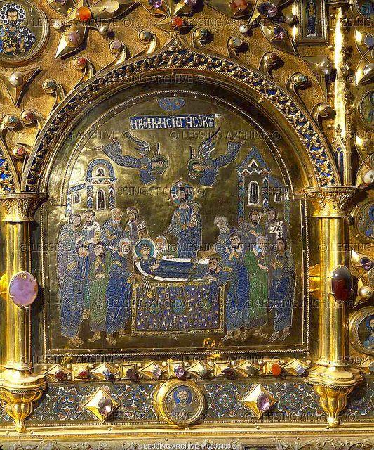 St mark basilica venice pala d 39 oro detail 7 the death for Pala de oro