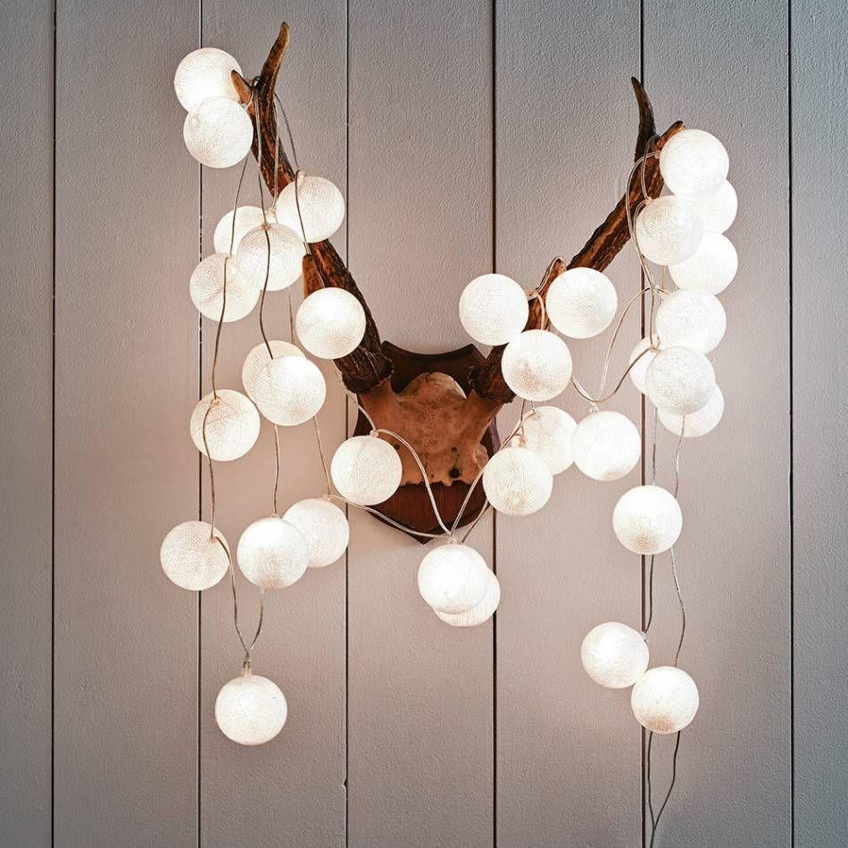 Decorative Light Balls Cotton Balls Hartjes Wit  Google Zoeken  Lichtslingers