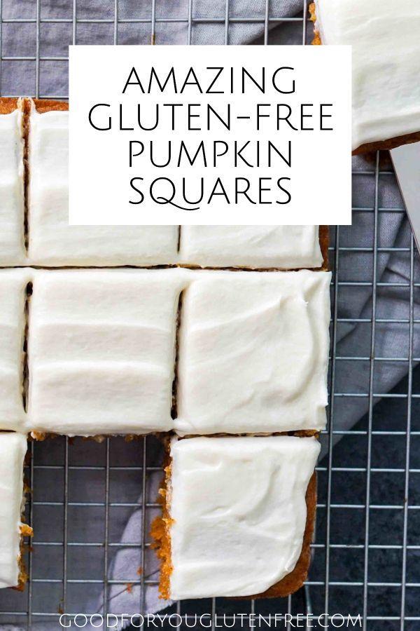 Gluten-Free Pumpkin Squares #glutenfree