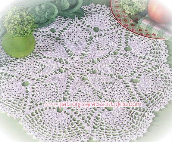17 patrones de carpetas crochet crochet y dos agujas - Patrones tapetes ganchillo ...