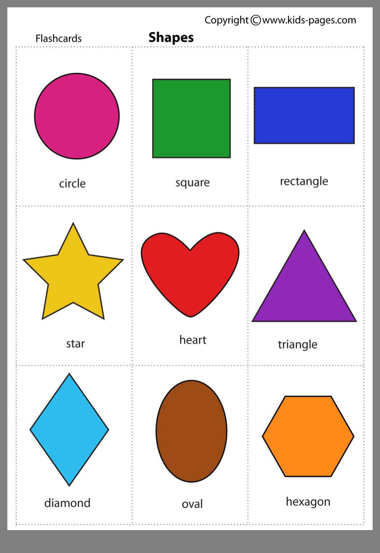 Oblici Printable shapes, Shapes flashcards, Teaching shapes