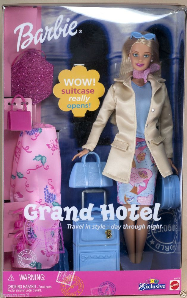 2001 grand hotel barbie doll travel in style day or night for Hotel barbie