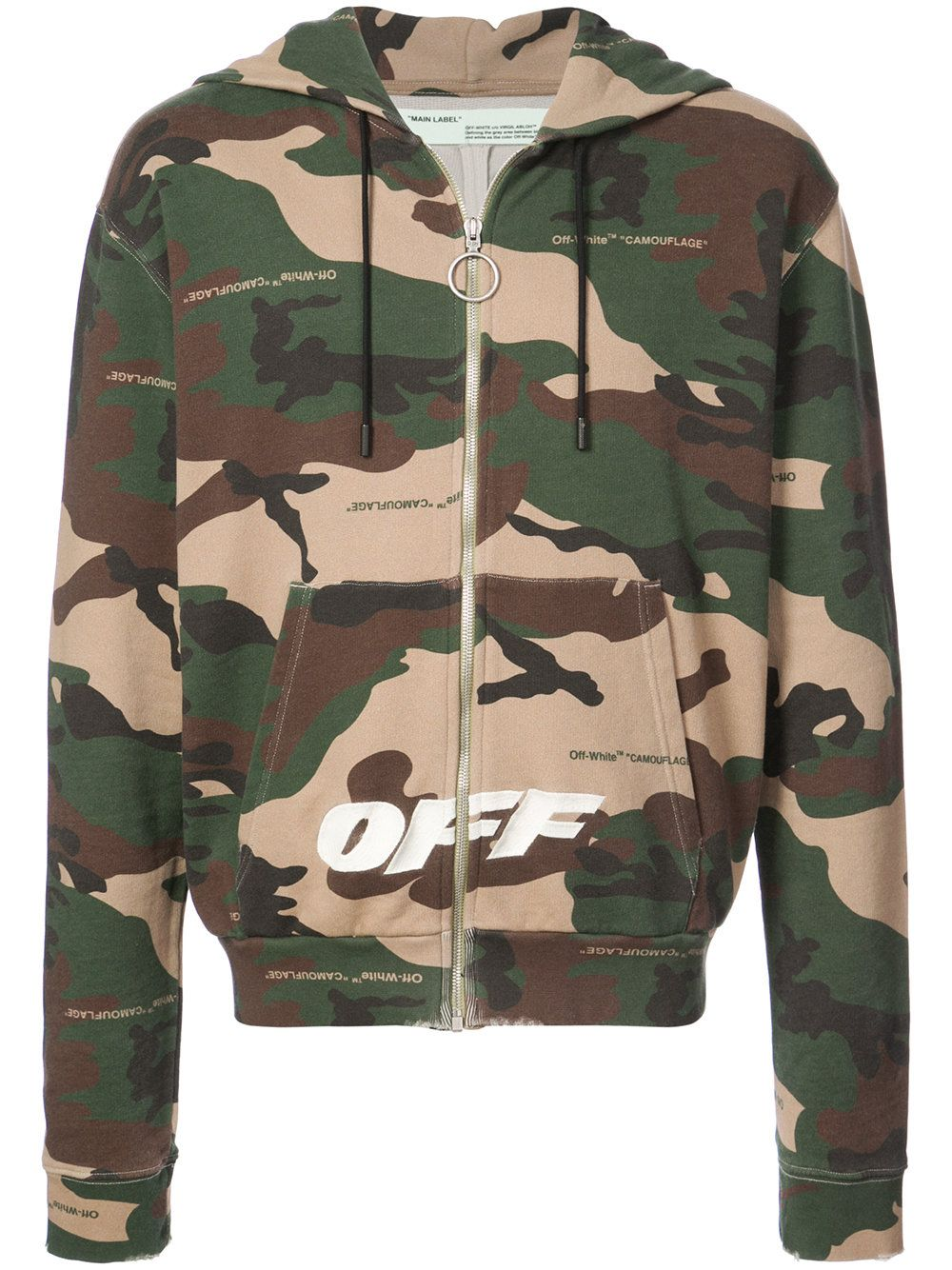 Off White Brown Off White Cloth Hoodie Print Off White Hoodies [ 1334 x 1000 Pixel ]