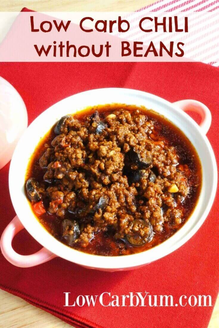 Chili Without Beans Low Carb No Bean Low Carb Chili Recipe Low Carb Chili Keto Chili Recipe
