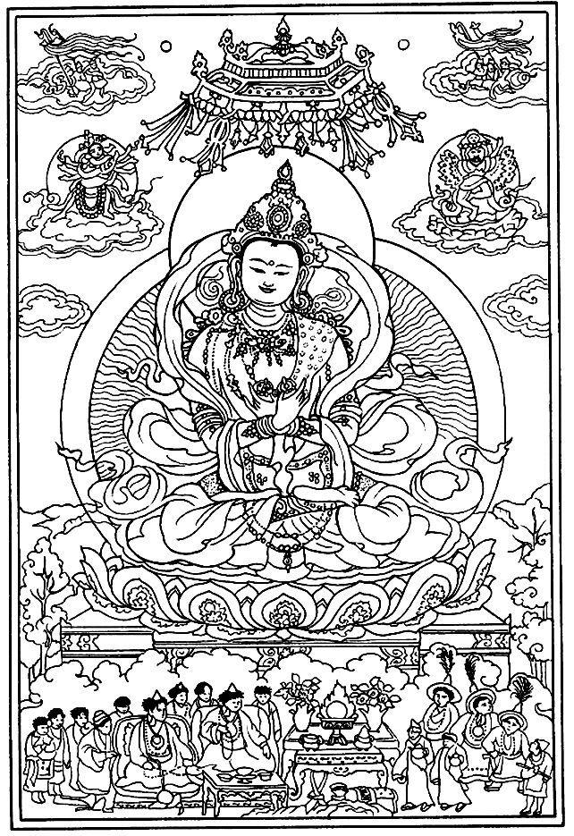 Tibetan Mandala To Color Google Search Adult Coloring