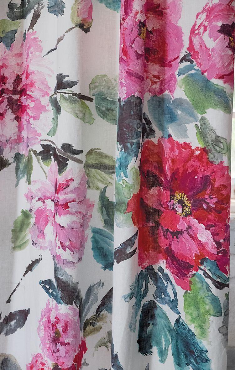 Designers Guild Shanghai Garden digitally printed linen | Interior ...