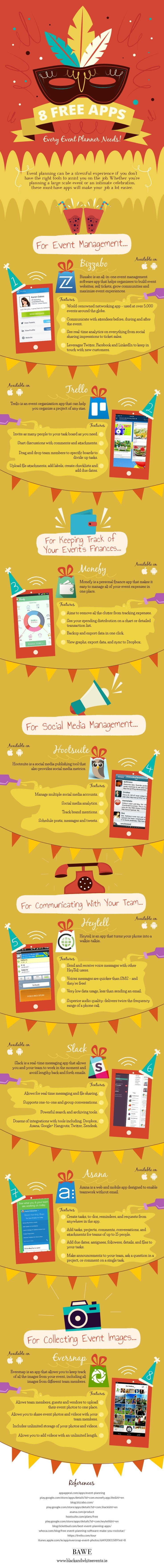 Free Apps Every Event Planner Needs Infographic  Free Apps