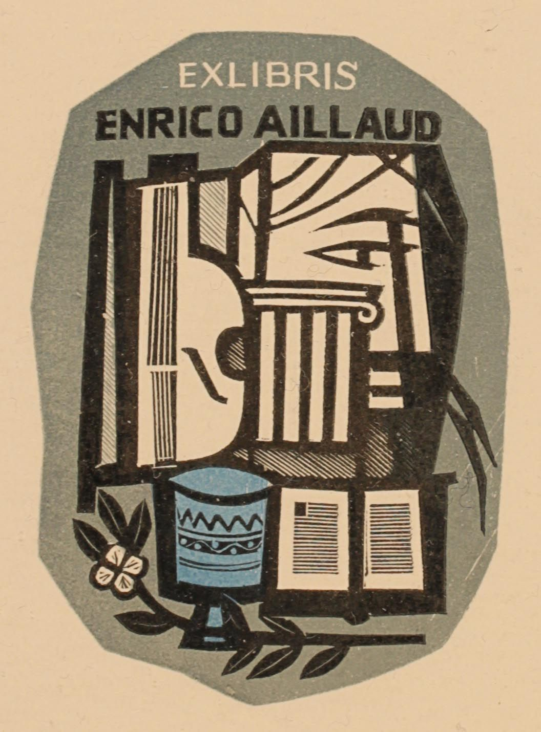 Art-exlibris.net - ex libris di Italo Zetti per Enrico Aillaud ...