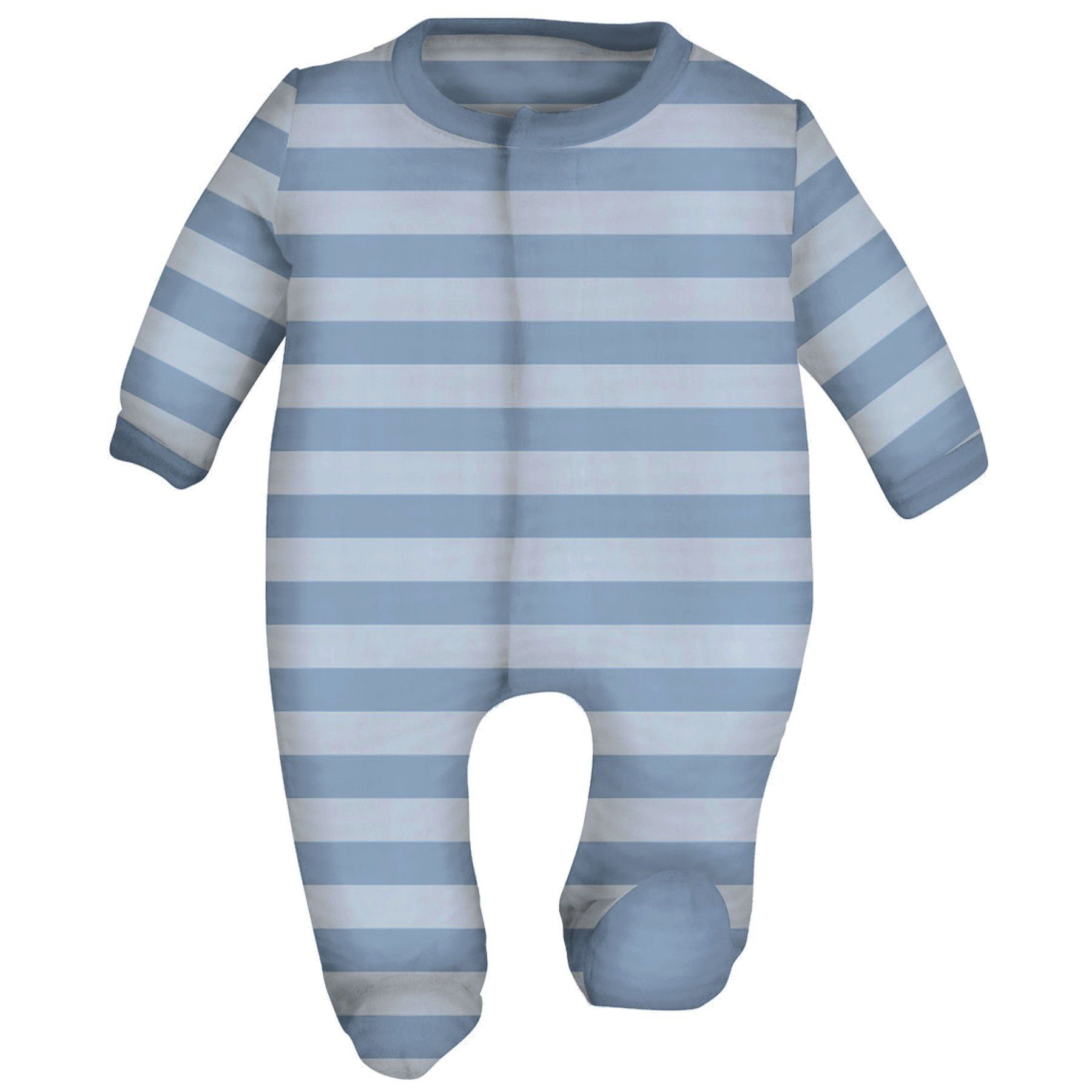 Magnetic Me Striped Velour Baby Footie Baby Product