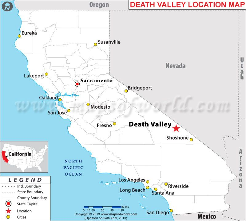 Where is Death Valley California interesting Science