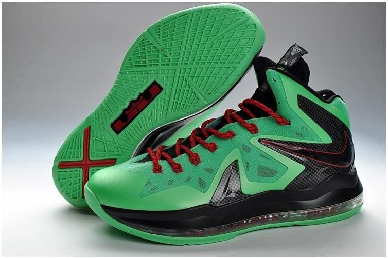 new products b0759 05bd4 Nike Lebron 10 Elite Green Black Red Christmas