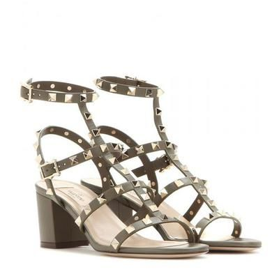 Valentino - Rockstud leather sandals #sandals #valentino #women #designer #covetme
