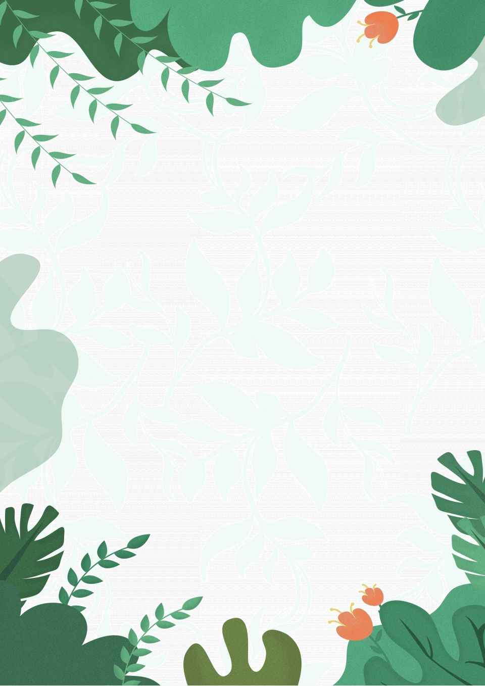 Green Leafy Spring Poster Background Iphone Wallpaper Pattern Green Leaf Background Beautiful Abstract Art