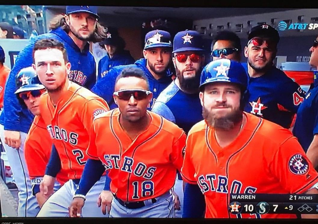 Most Fun Team In Baseball The Bregman Blue Steel Team Stare After Homers Houston Astros Houston Astros Houston Astros Baseball Chicago Cubs Baseball