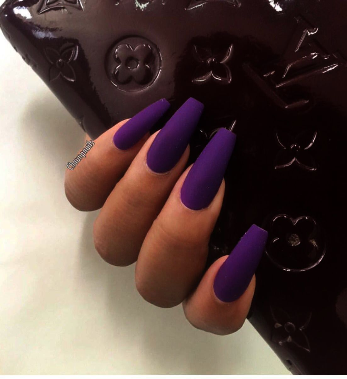 Home Blend Of Bites Purple Acrylic Nails Purple Nails Coffin Nails Long